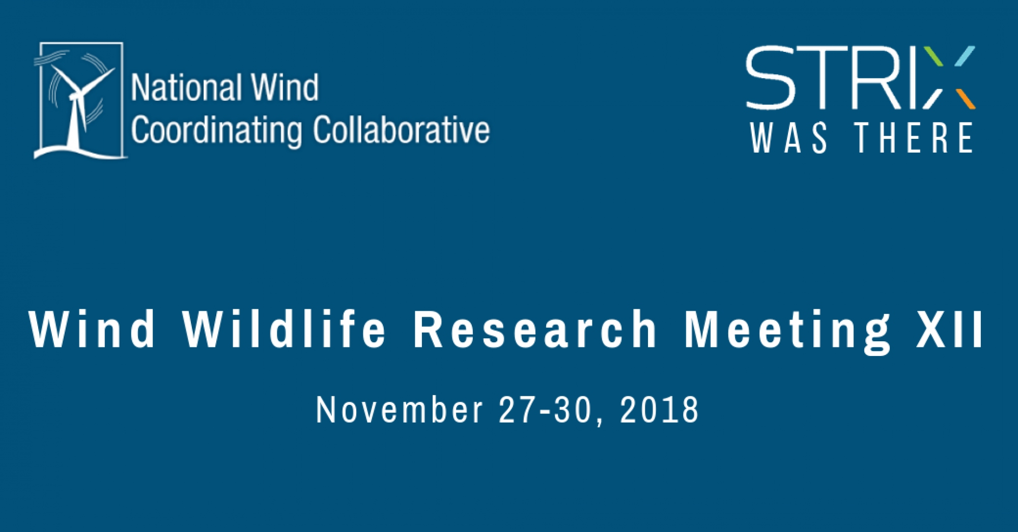 Wind Wildlife Research Meeting XII